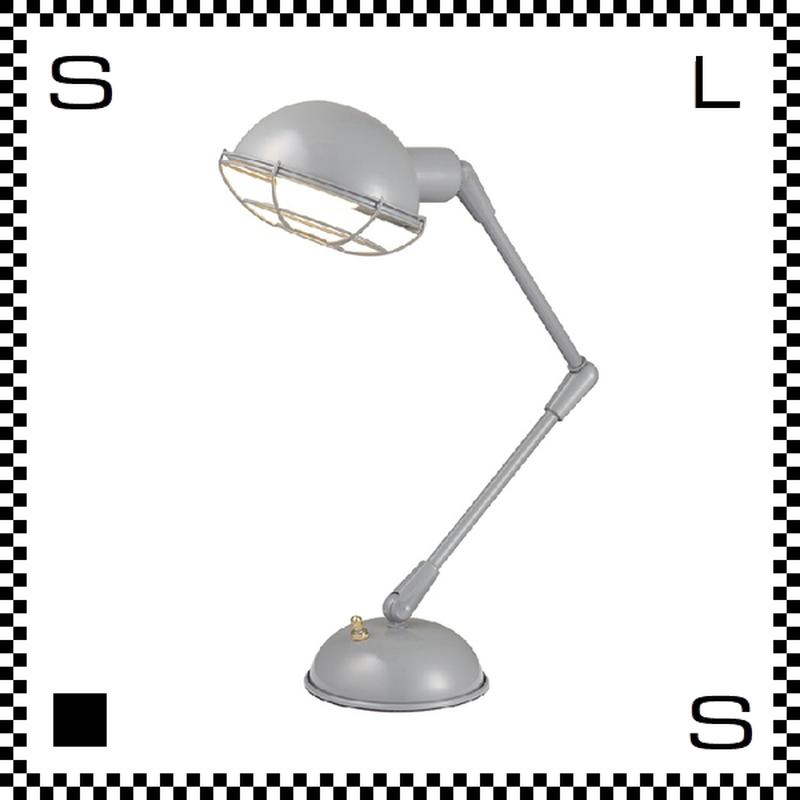 アートワークスタジオ Bronx ブロンクスデスクランプ グレー 電球付 アーム:450mm レトロアメリカンスタイル 2段アーム 鋳物 AW-0348V-GY
