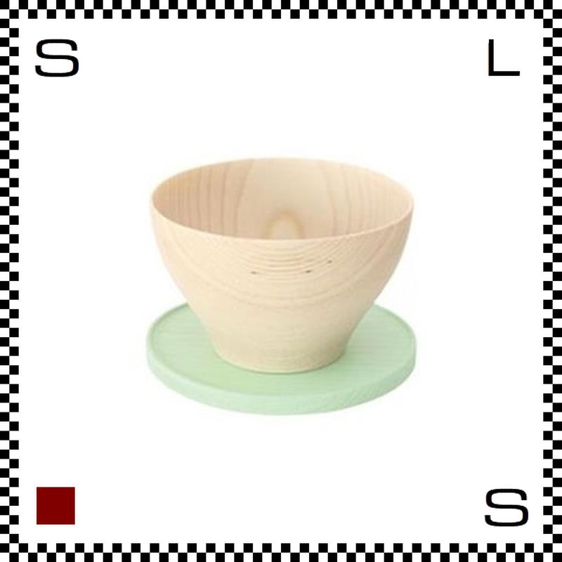 山中漆器 木のカップ&ソーサー KOMA コマ ミント Φ88/H54mm ウッドカップ ハンドメイド 日本製