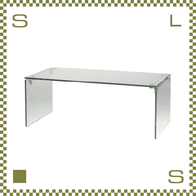 ガラスサイドテーブル クリア W45/D40/H54.5cm ガラス天板 PCサイドデスク azu-pt26