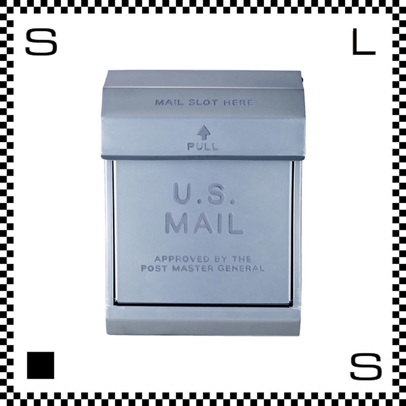 アートワークスタジオ U.Sメールボックス ダイヤル式 シルバー W283/D190/H380mm 壁付ポスト 鍵付き 郵便ポスト  TK-2078-SV