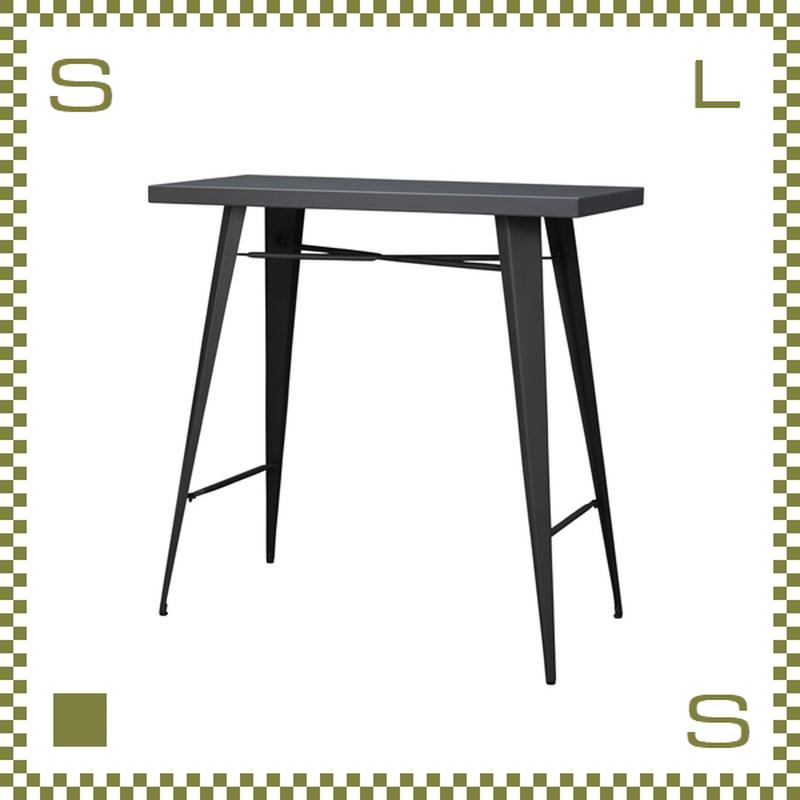 ガーデンファニチャー オールブラック カウンターテーブル W105/D49/H100cm スチール製 azu-grp336