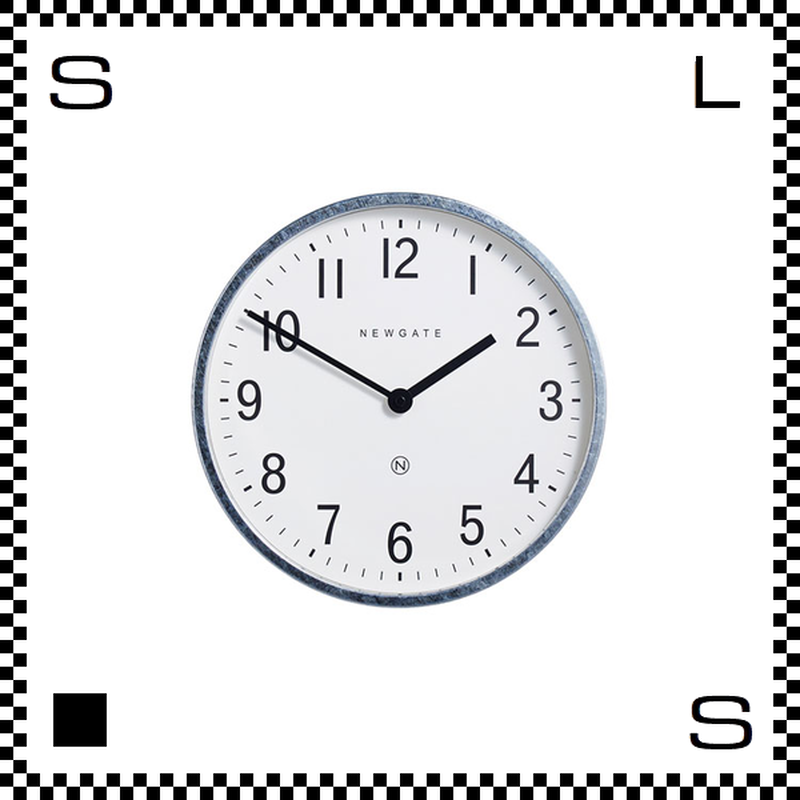 NEW GATE マスターエドワーズ ガルバナイズシルバー 直径30cm ウォールクロック 壁掛け時計 ニューゲート アートワークスタジオ