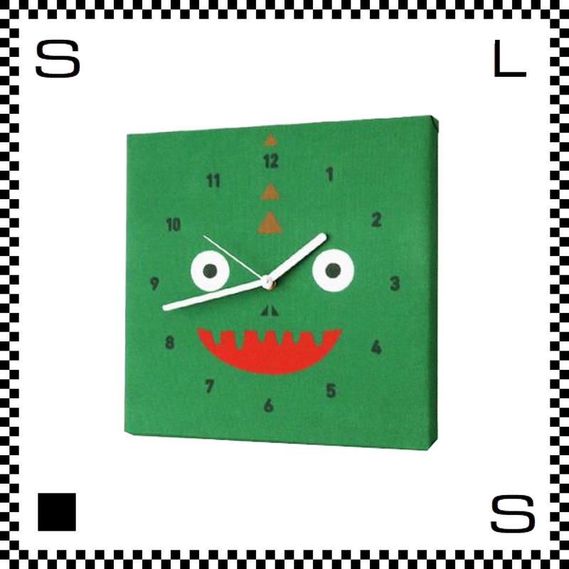 サウルス W30/D2/H30cm 恐竜の顔のような文字盤 ウォールクロック 壁掛け時計 スイープクオーツ使用 日本製