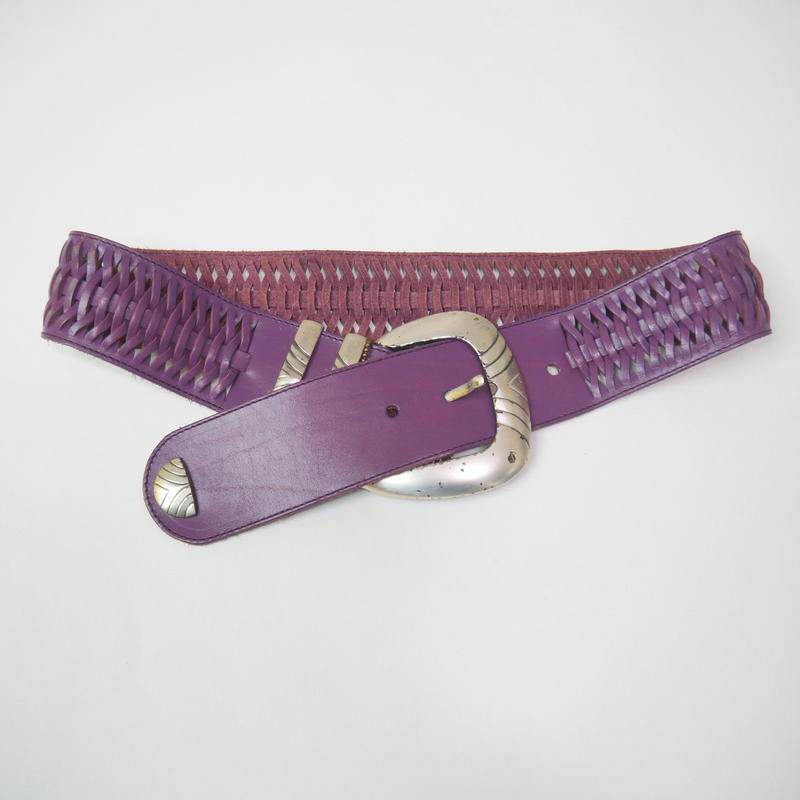 Leather mesh belt(PPL)