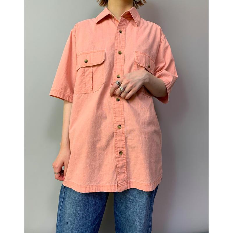 90年代 半袖コットンシャツ