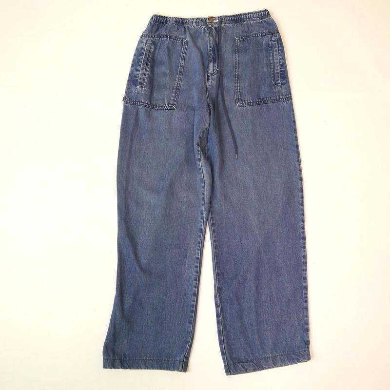 Straight easy denim pants