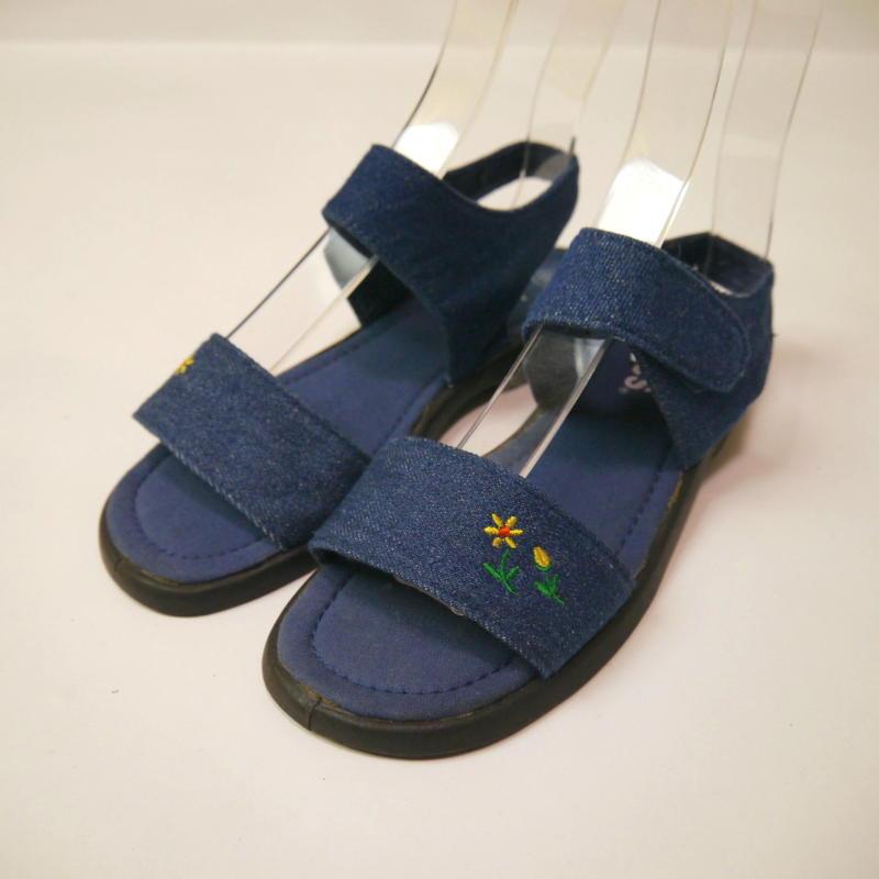 Denim flat sandals