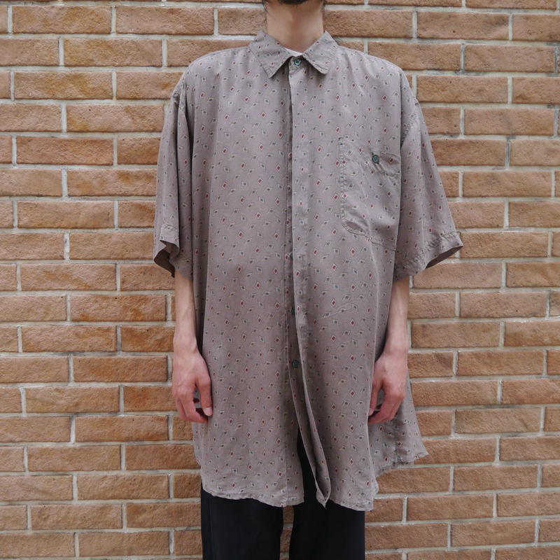 All pattern silk S/S shirt