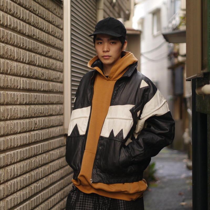 Leather design jacket