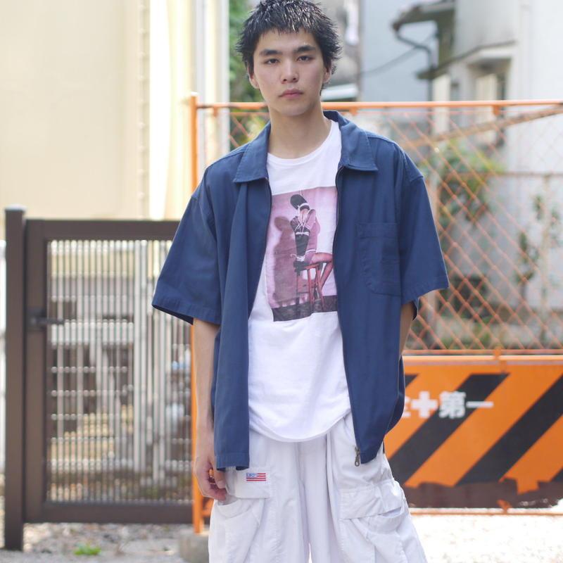 S/S zip-up shirt
