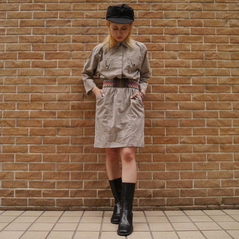 80s Design shirt dress