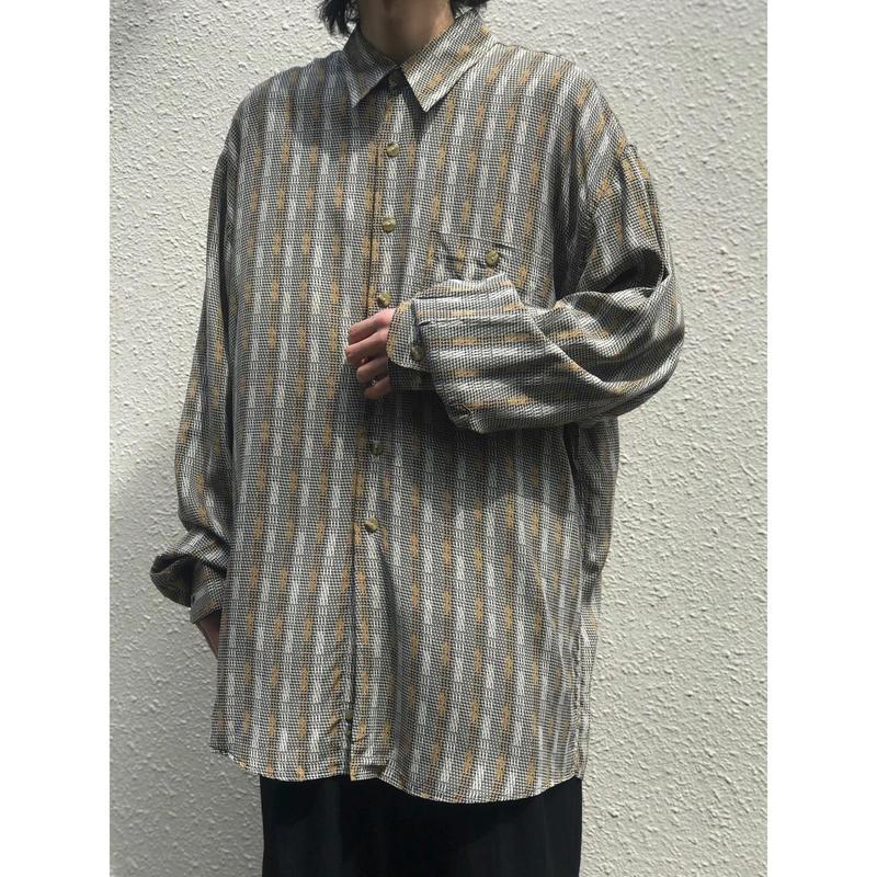 90年代 レーヨン総柄シャツ