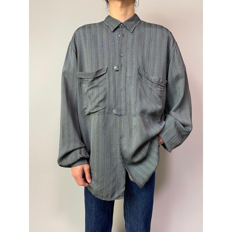 80年代 レーヨンブレンドデザインシャツ
