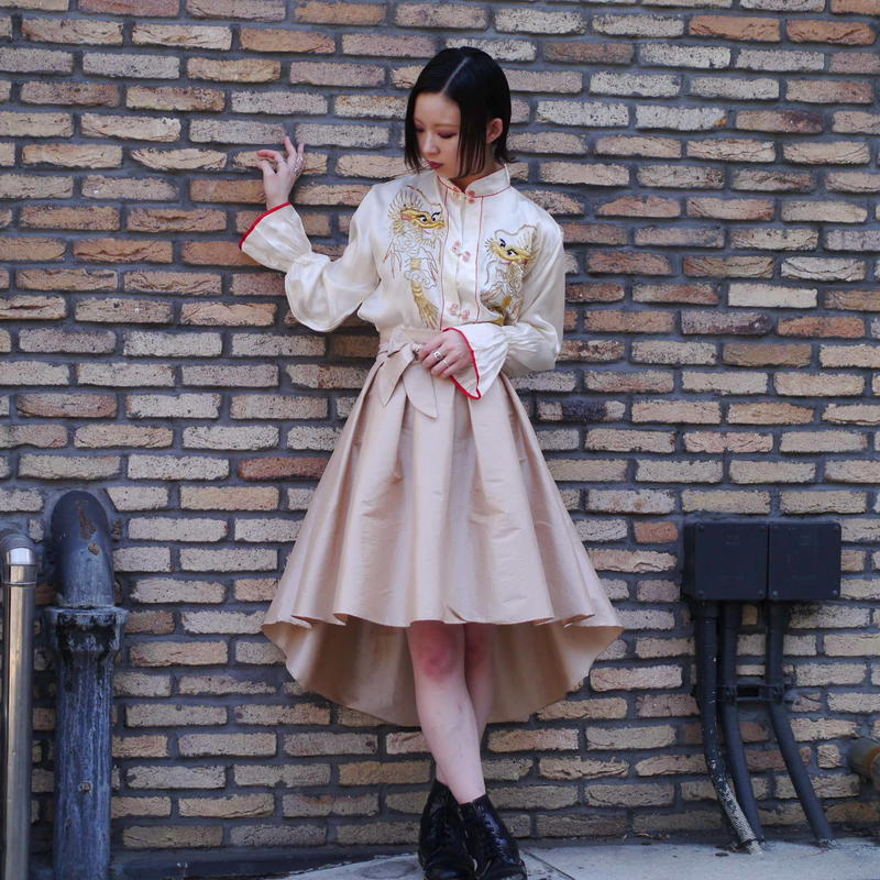 fishtail flare skirt