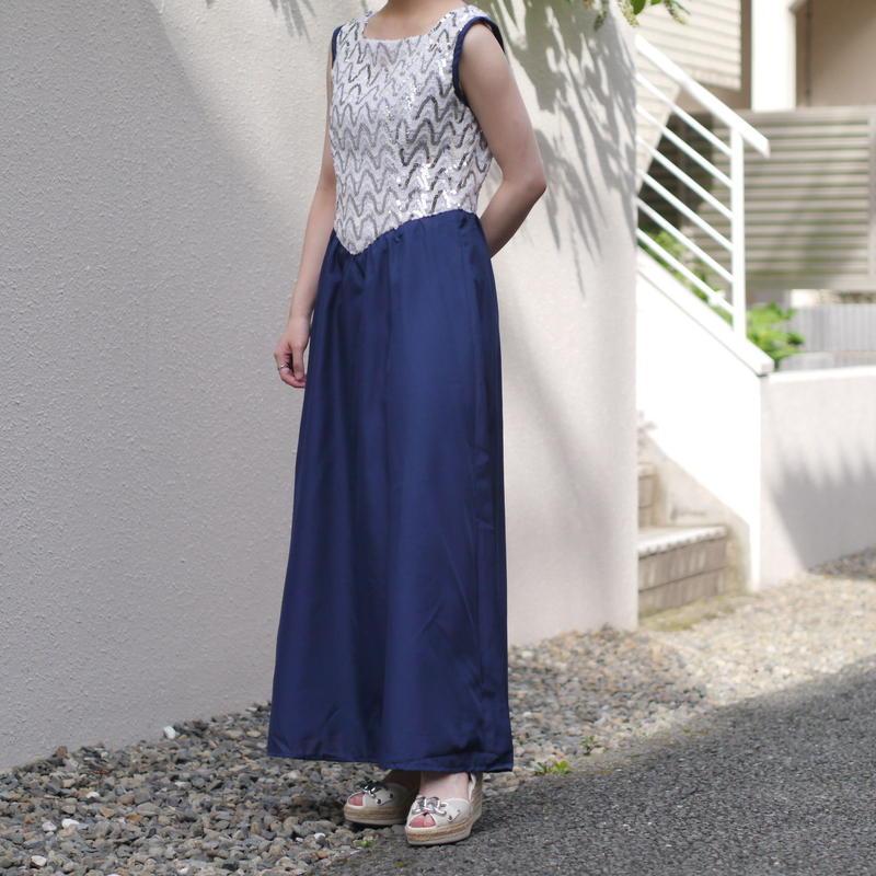 spangle crosscut dress
