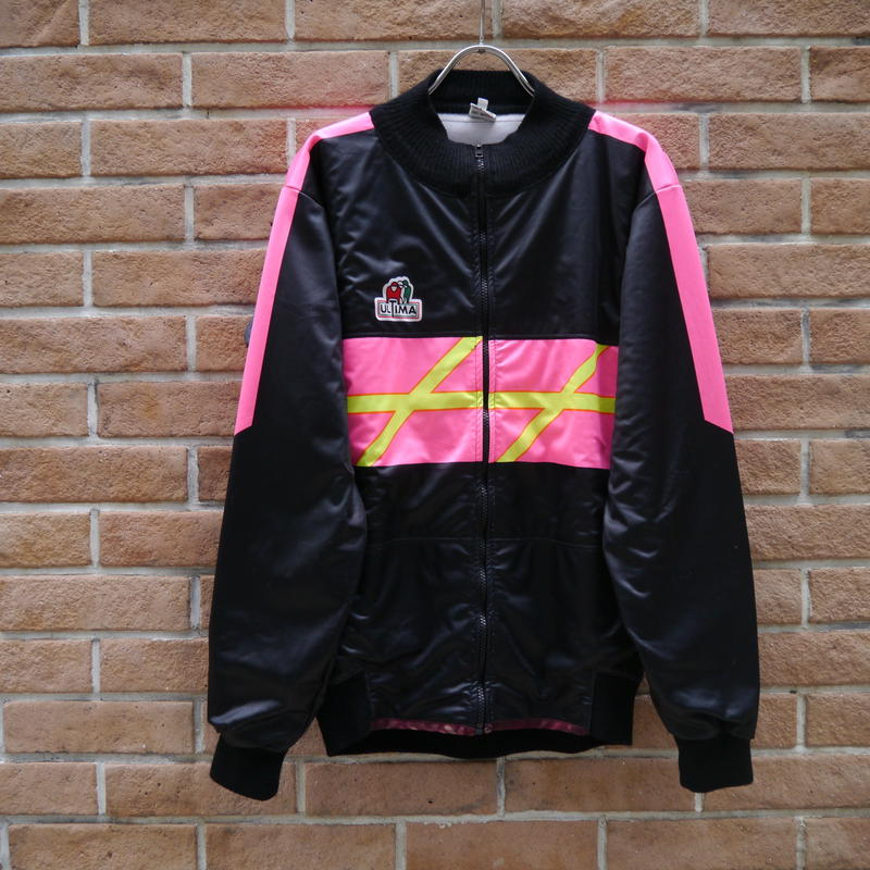 High neck jersey blouson