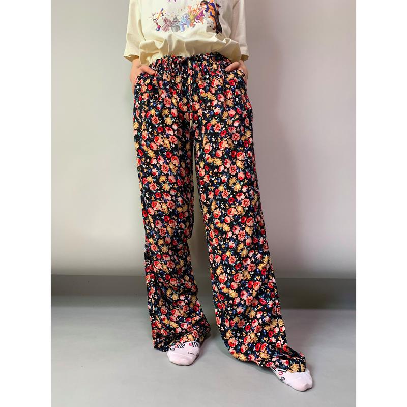 90年代 花柄イージーパンツ