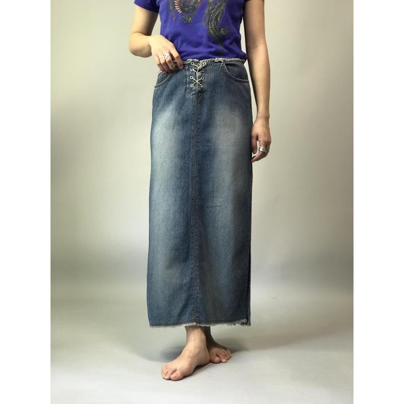 90年代 デニムマキシスカート