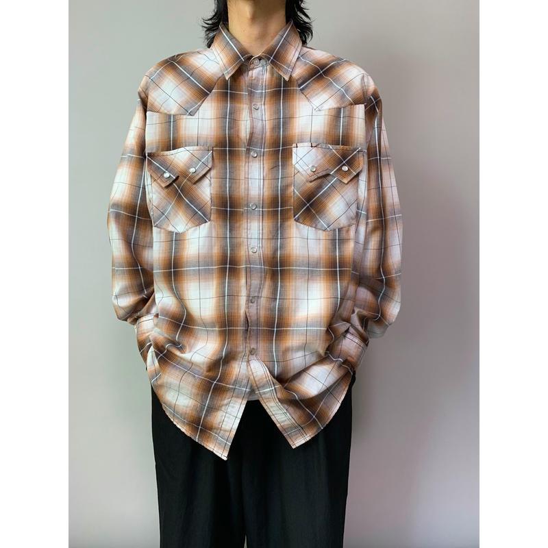 90年代 シャドーチェックウエスタンシャツ