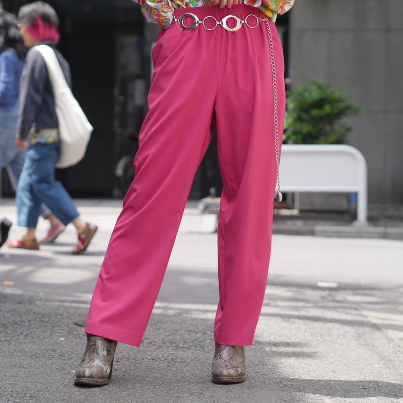 color easy straight pants(PNK)