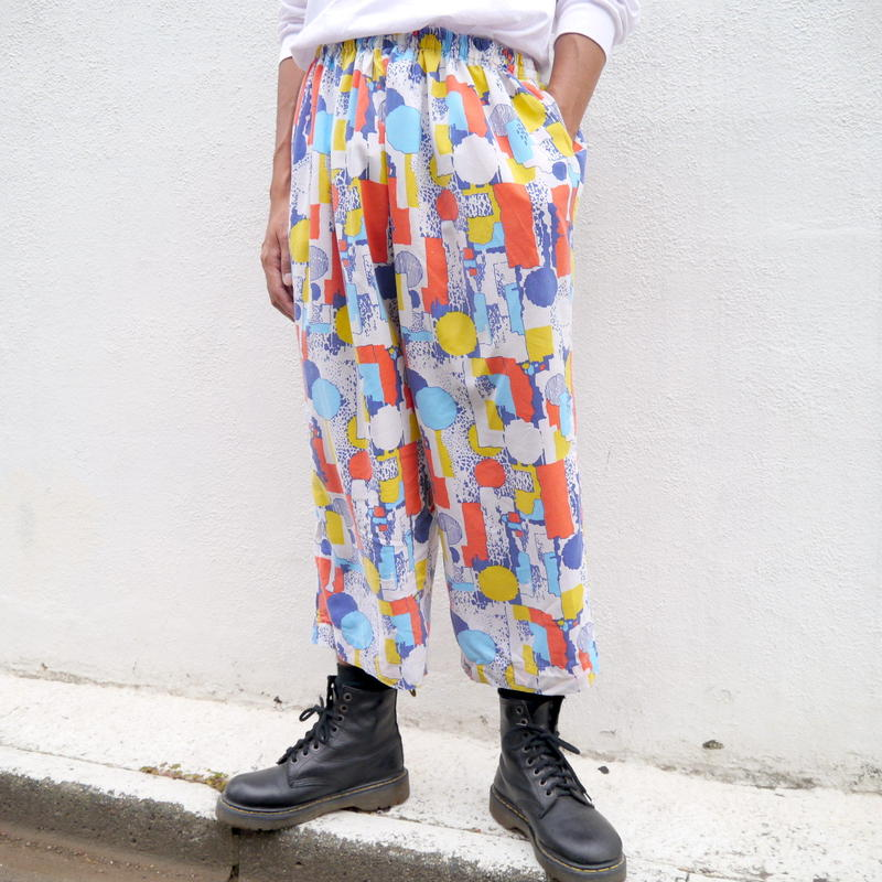 80s cropped easy pants