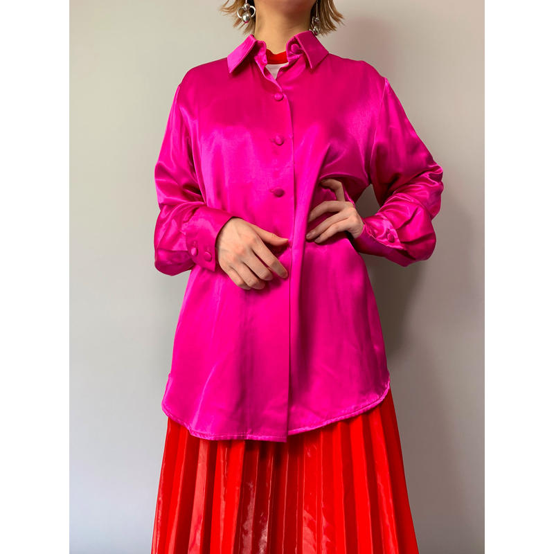 80年代 サテンシャツ
