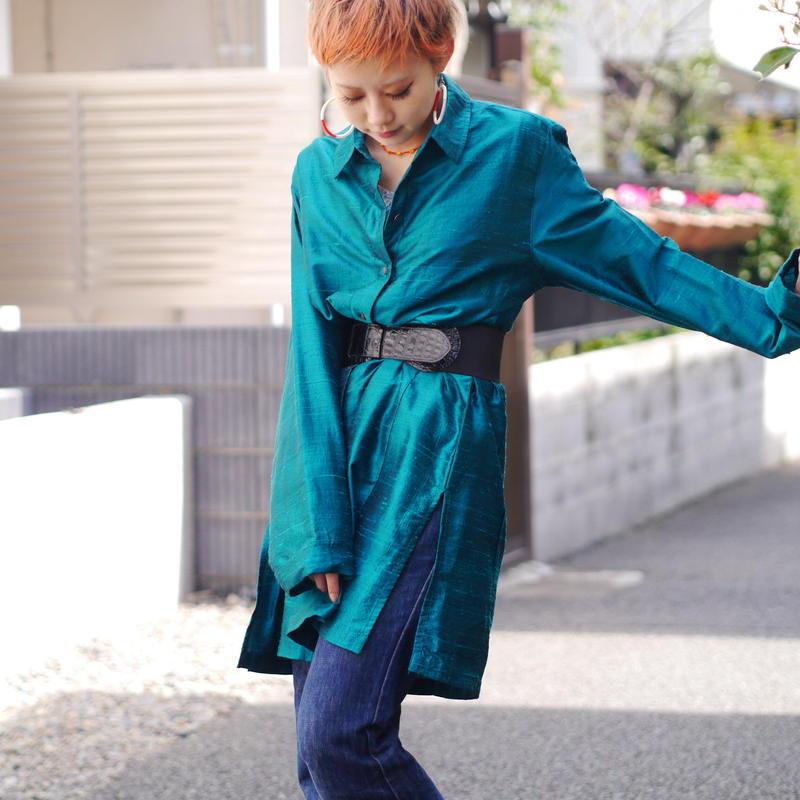 """CHICO'S"" Shiny shirt dress"