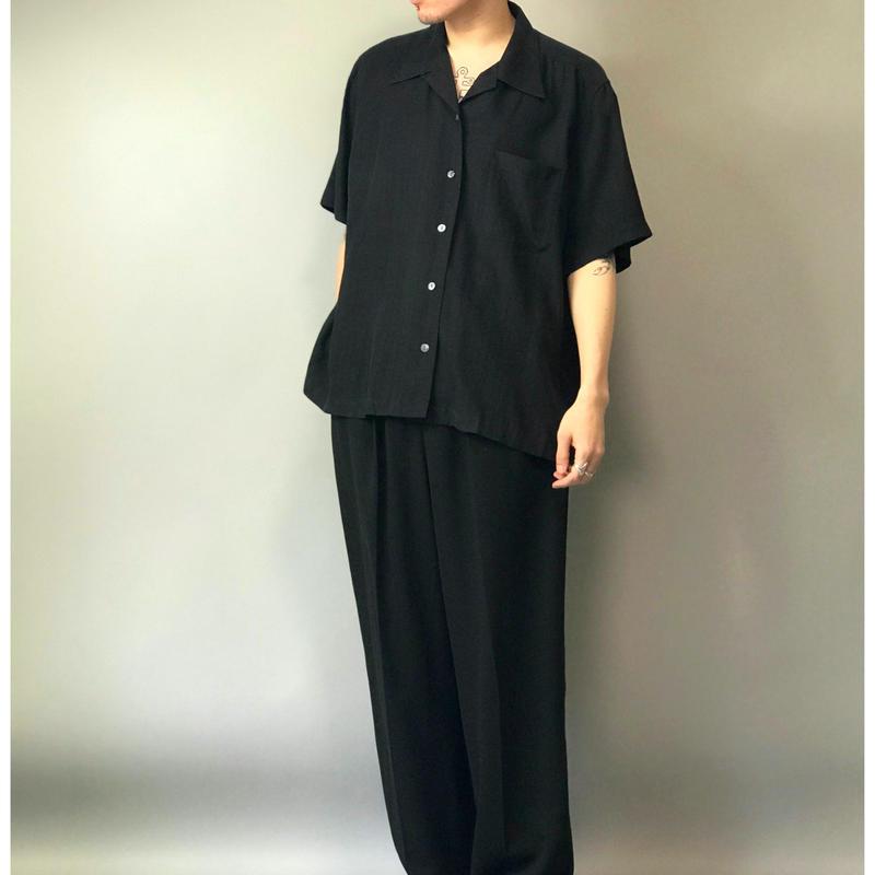 90年代 シルクオープンカラーシャツ