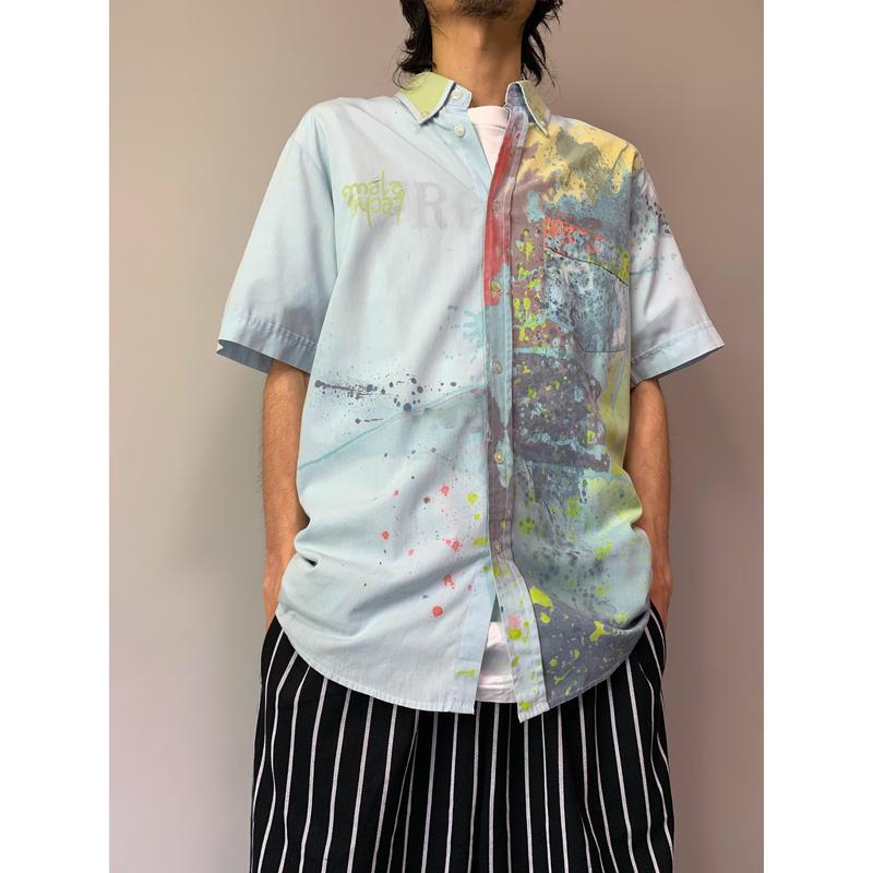 90年代 ポリブレンドデザインシャツ