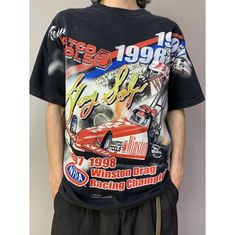 """00年代 """"RACING CHAMPIONS""""プリントTシャツ"""