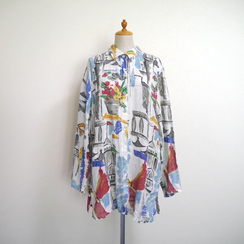 """""""CHICO'S"""" linen L/S shirt"""