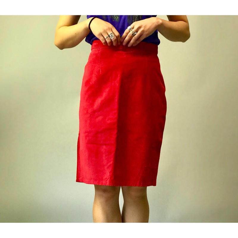 80年代 レザータイトスカート