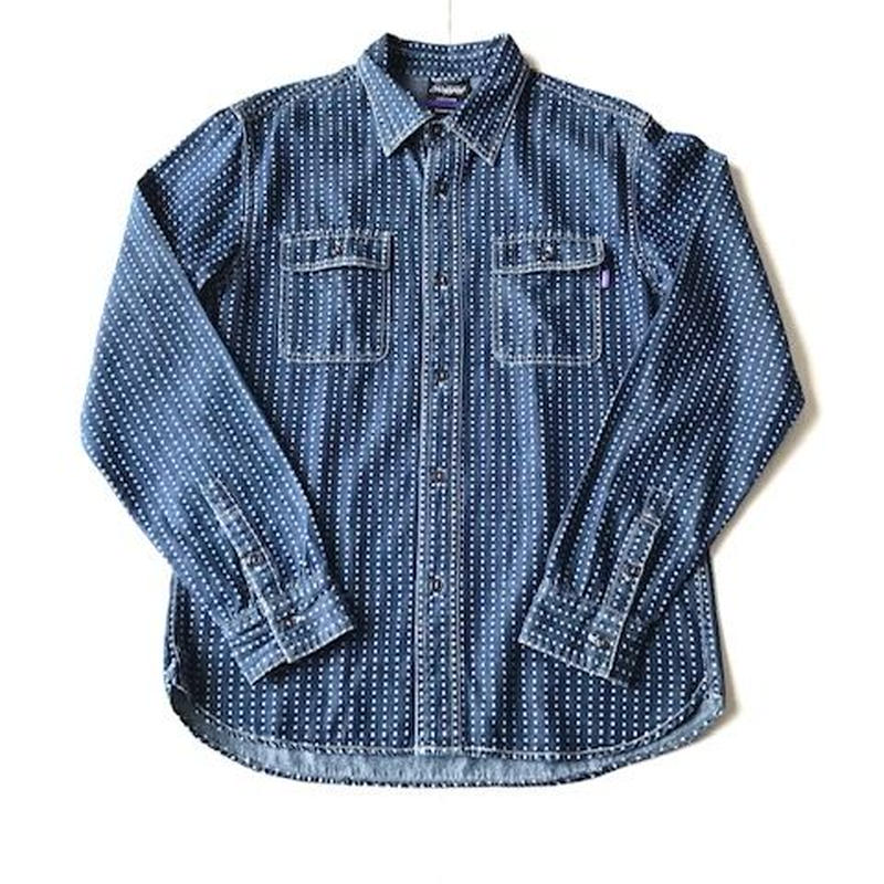 RUGGED DENIM shirt インディゴ L
