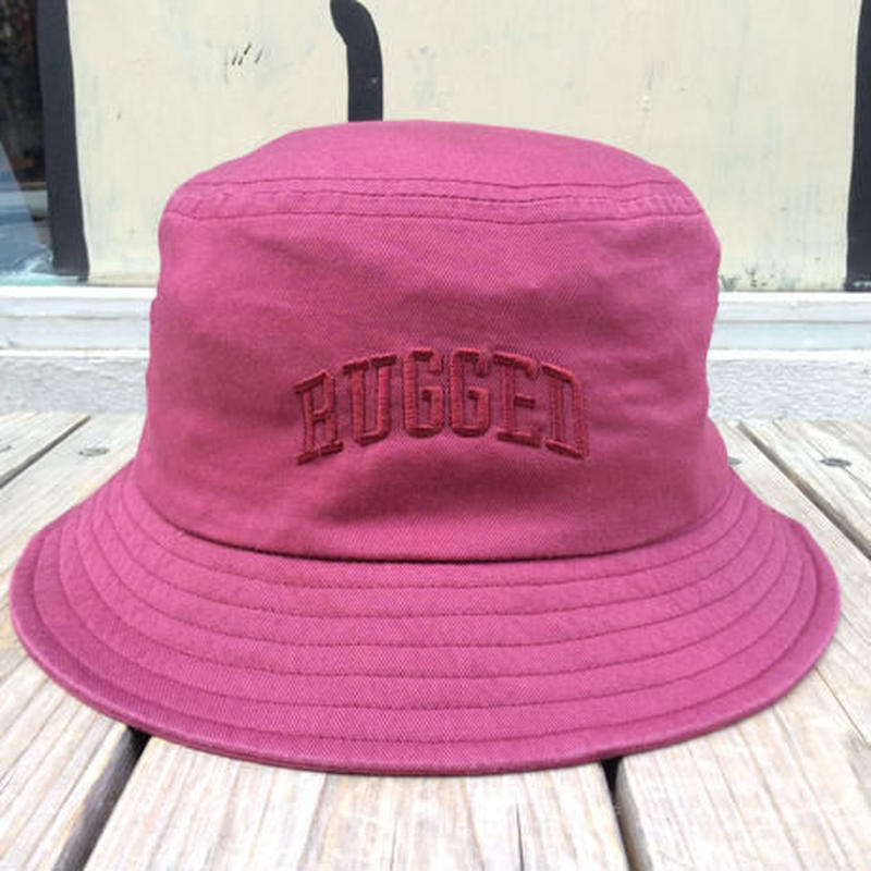 RUGGED on Champion ARCH LOGO buckethat バーガンディー