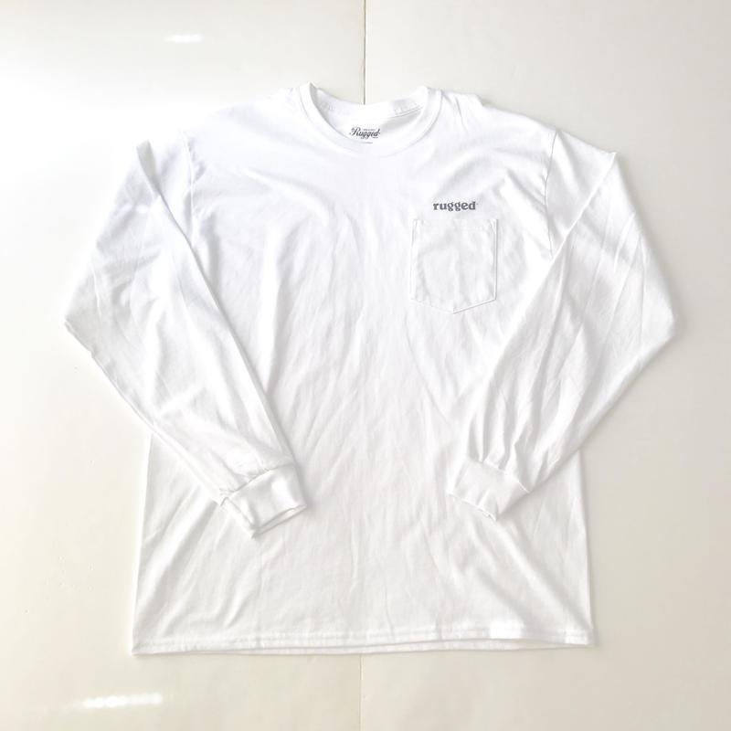 RUGGED rugged®︎ pocket L/S tee ホワイト L