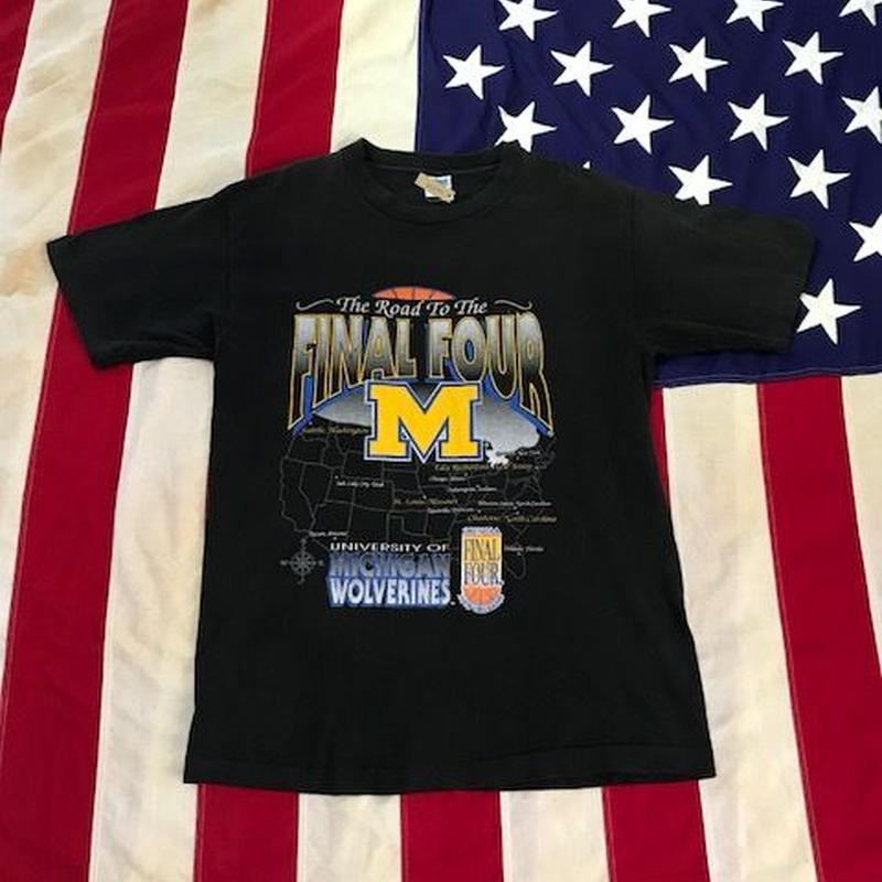 【USED】MICHIGAN FINAL FOUR tee ブラック L