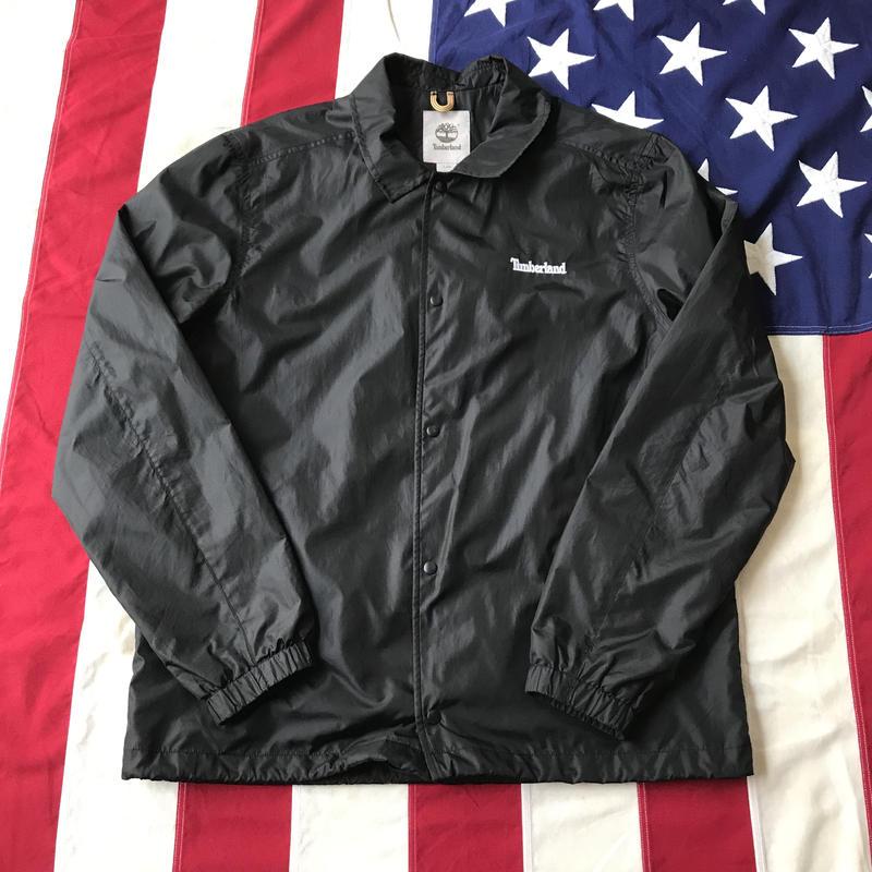 【USED】Timberland NYLON coach  jacket ブラック L