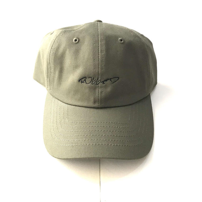 RUGGED curisve logo adjuster cap カーキ