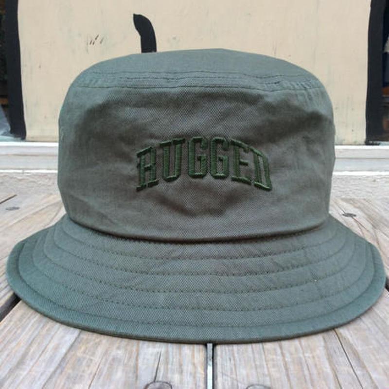 RUGGED on Champion ARCH LOGO buckethat グリーン
