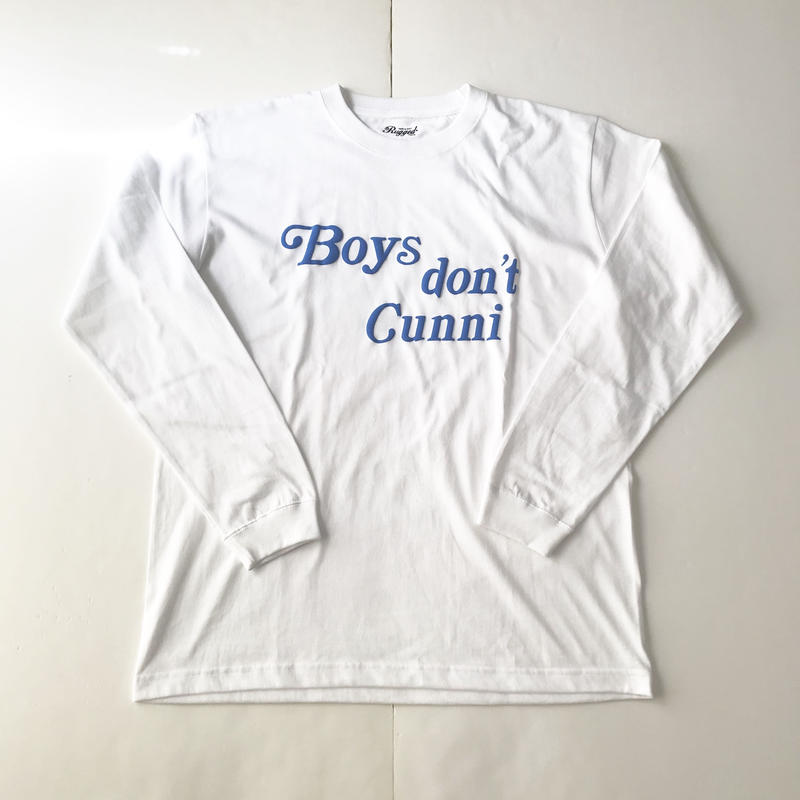 RUGGED Boys don't Cunni L/S tee ホワイト L