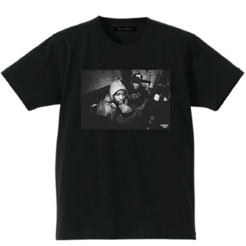 Cherry Chill Will×DOUBLE HARD A$AP FergxDJ Premier tee ブラック