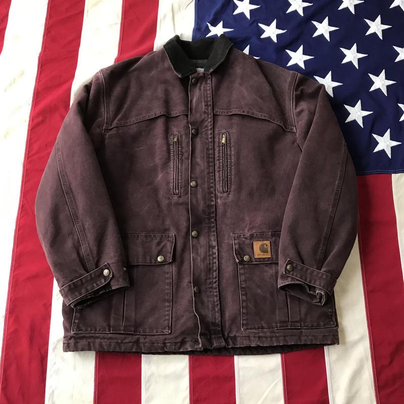 【USED】Carhartt DUCK jacket バーガンディー