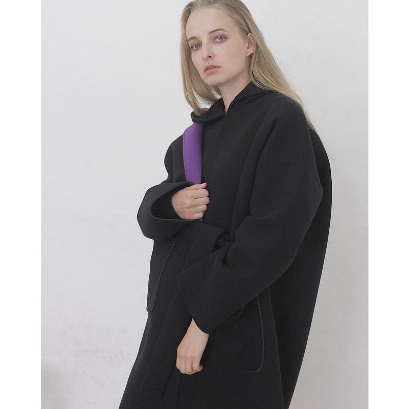 即納(original)neo coat(ブラック×パープル)