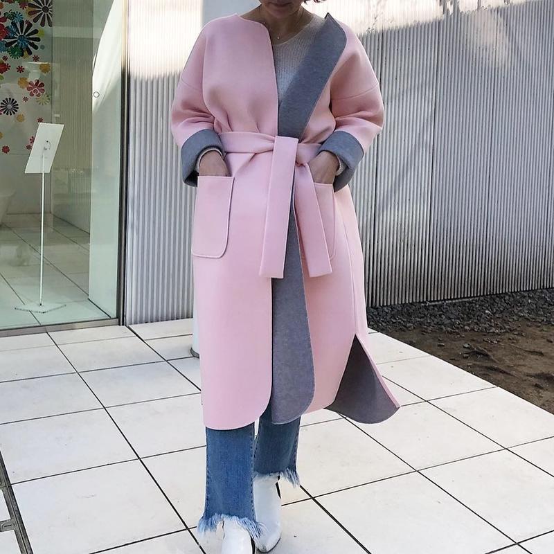 追加製作中(original)neo coat  (ライトピンク×ライトグレー)