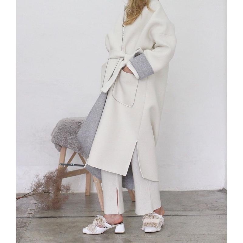 (original)neo coat(ホワイト×ライトグレー)