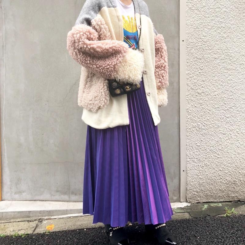 (original)マキシ丈プリーツスカート