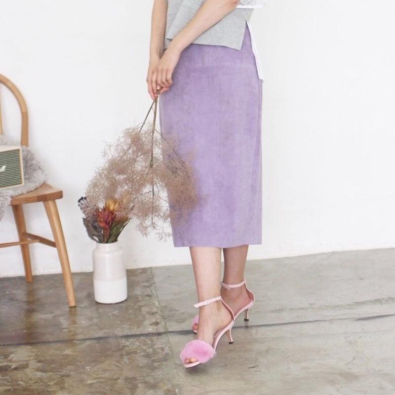 即納(select別注)スウェードスカート
