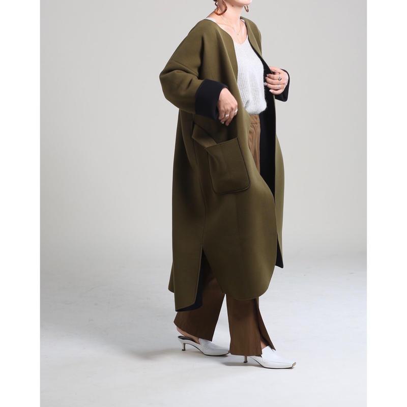 即納(original)neo coat(カーキ×ブラック)