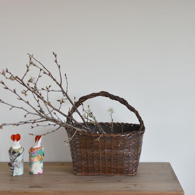 古道具部 すす竹の炭斗(すみとり)