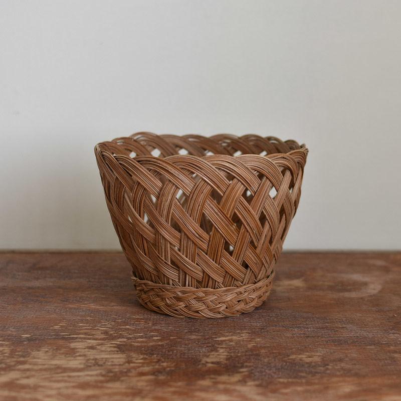 古道具部 籐の鉢カバー